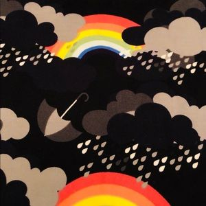 LuLaRoe Pants - Lularoe rainbow black clouds legging